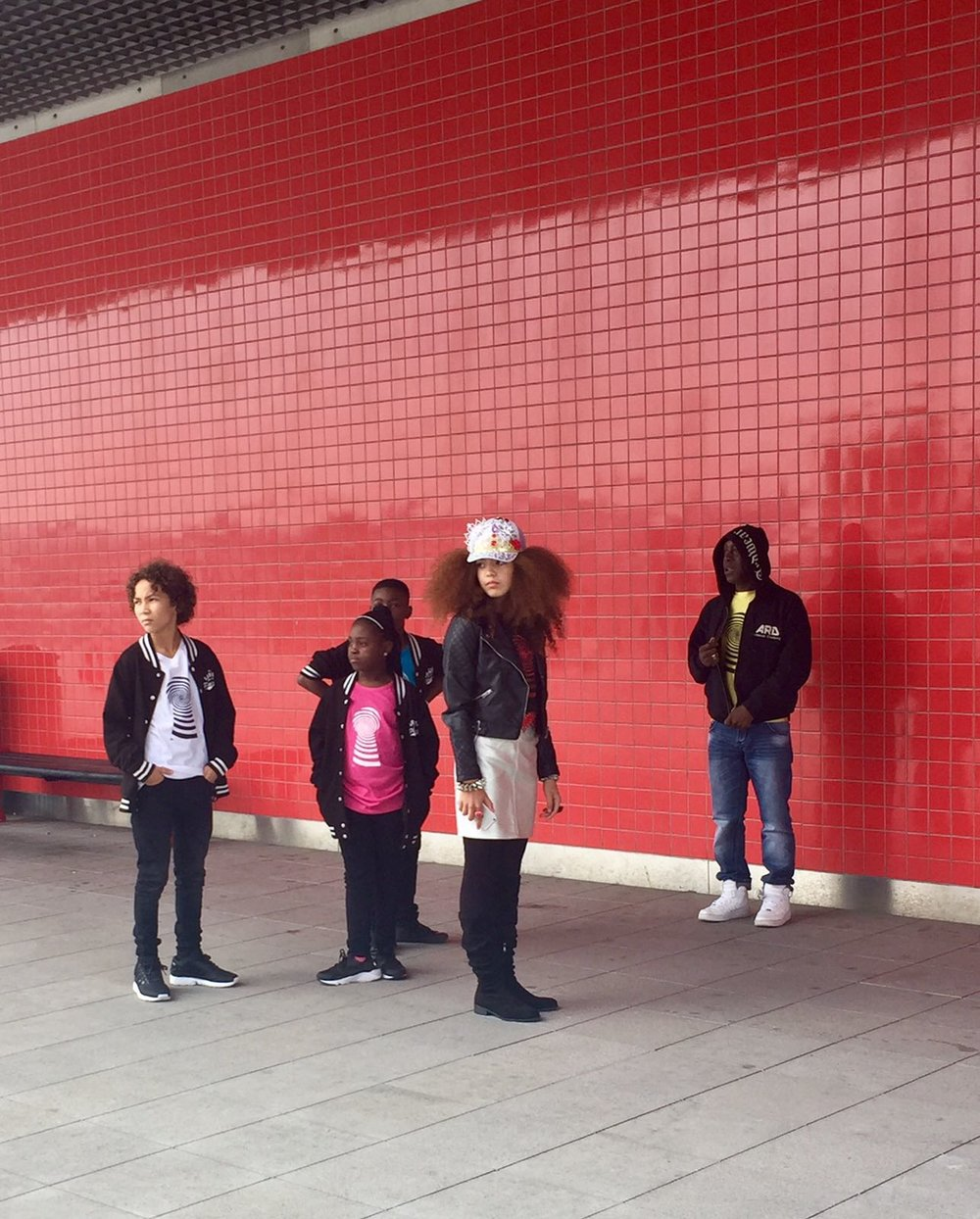 Platinum Dancers during a Video Shoot with Amazing Arabella