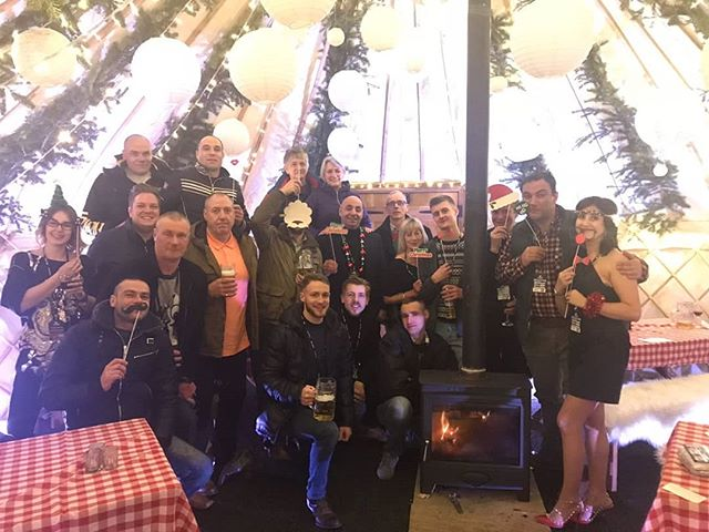 The XKX team enjoying the YurtBar Christmas party! A great night to celebrate an amazing year had by XKX and a look forward to more amazing things in the new year! #yurtbar #xkxprojects #leeds #eventprofs #christmas #newyear