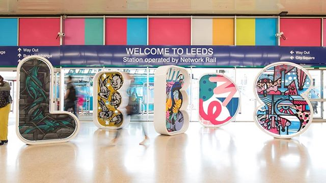 Thank you to @somethingmore__ for allowing us to still be part of the ongoing Leeds Station Commission with @leedsbid showcasing amazing talent and artwork across Leeds! Photo credit to @ilikepress and the amazing artists that were commissioned  #xkxprojects #creative #design #engineering #Leeds #eventprofs #windowsofleeds #artinstallation #local #yorkshire #visitleeds