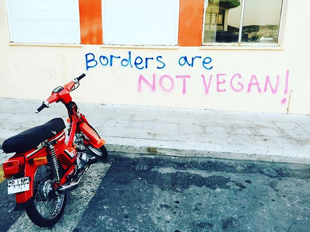 Over 60,000 refugees are still stuck in Greece while waiting for their approval for asylum, and there's been a recent spike of arrivals to the islands. We're in the process of assessing the ever-changing situation and will be announcing our new project very soon. Here's our favorite graffiti we found this week in Lesvos, Greece. #RefugeesWelcome
