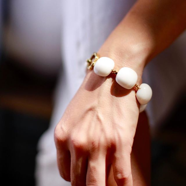 This White Opal statement is a forever piece for your collection. Masterfully designed and made in Milan, it will continue to hold the pulse of Europe. #summerjewelry