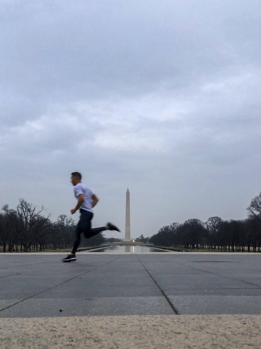 Impromptu running tour of Washington, DC