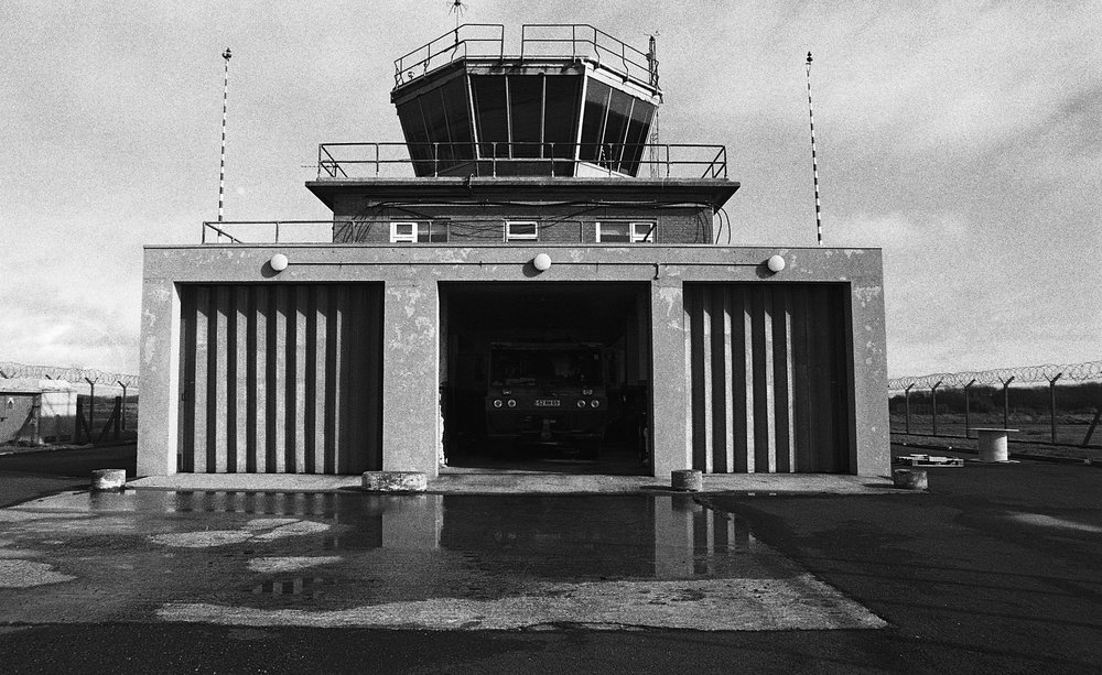 Exterior of the Predannack Airfield Air Traffic Control Tower  The Air Traffic Control Tower at Predannack is operated by the Royal Navy who use the runways as a satellite airfield and a relief landing ground for RNAS Culdrose. The tower also houses aircraft fire fighting facilities for the Royal Navy School of Flightdeck Training.