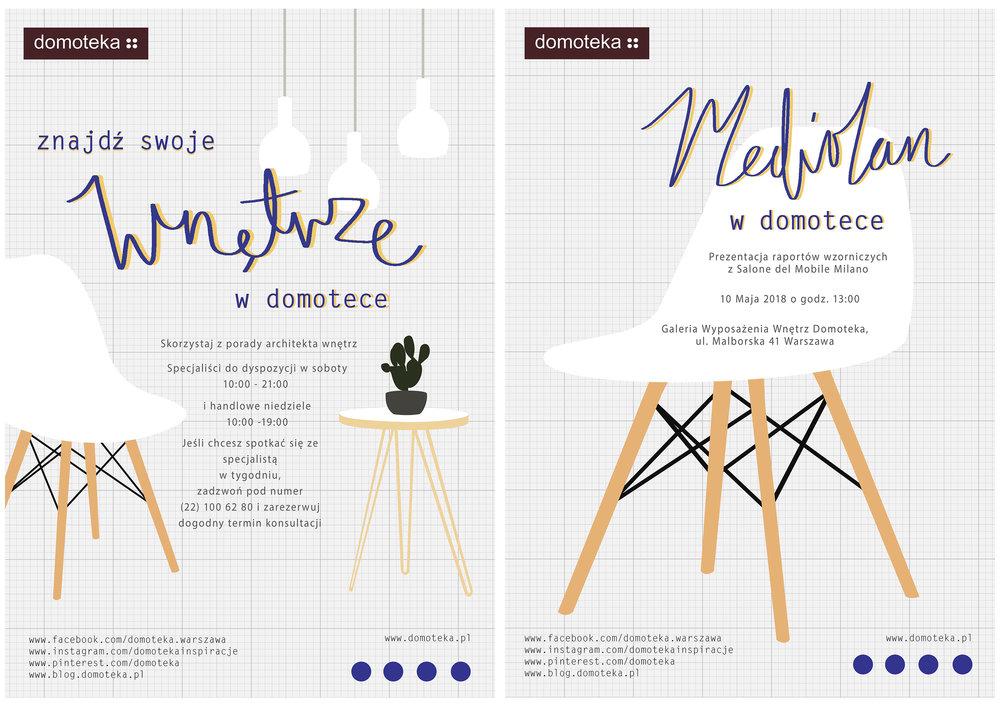 'Find your interior in Domoteka' & 'Milan at Domoteka'