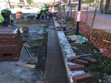 Brick Gutter Installation Sta.26+33RT to Sta.27+50RT