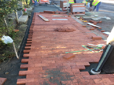 Brick on PCC Base from House #614 to #620 Kennedy Street