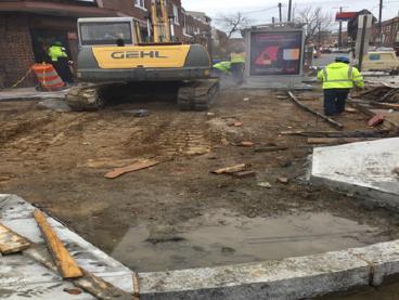 """Excavation 4"""" Sidewalk Sta.40+50RT to Sta.41+00RT"""