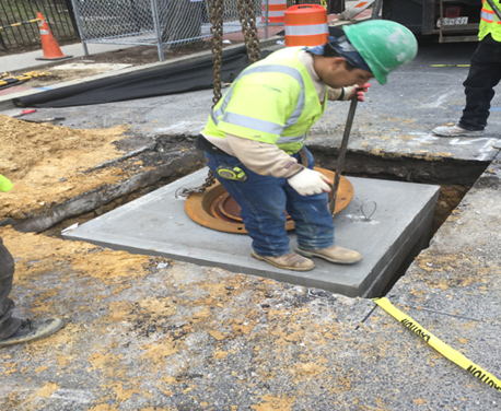 Street light Manhole Installation