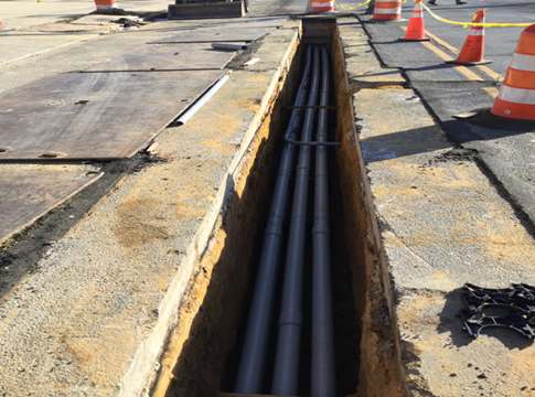 "Installation of 6-4"" Conduit C-15 to C-14"