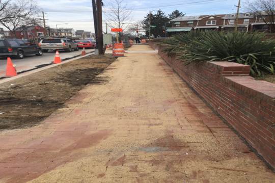 Brick Sidewalk Installation 5420 Kansas Ave/Kennedy Street
