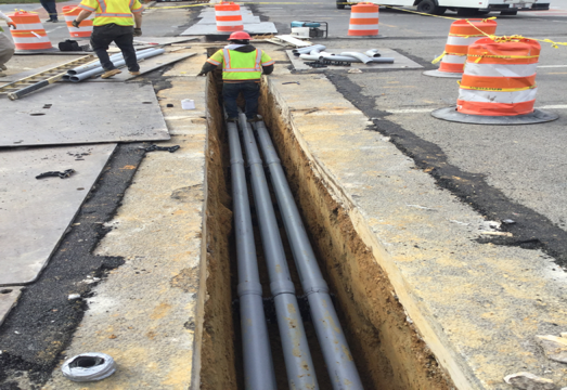 "6-4"" & 1-2"" Conduit installation M-21, M-20 and M-22"