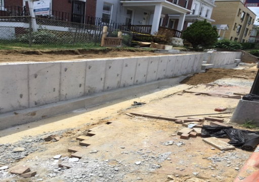 Structural Backfill 8th & Kennedy Street Retaining Wall