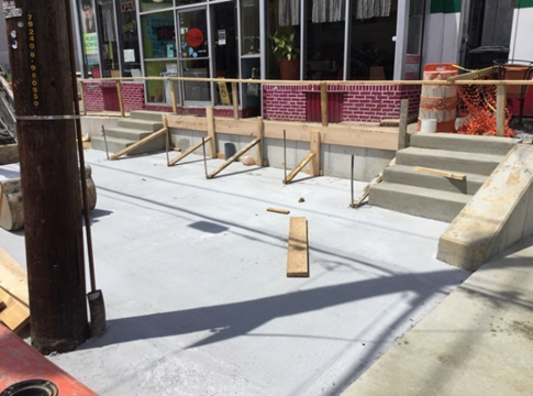 Formwork at Taqueria Carry-Out Kennedy ST Ramp Entrance