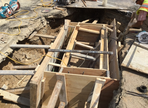 Formwork Installation For CB-107