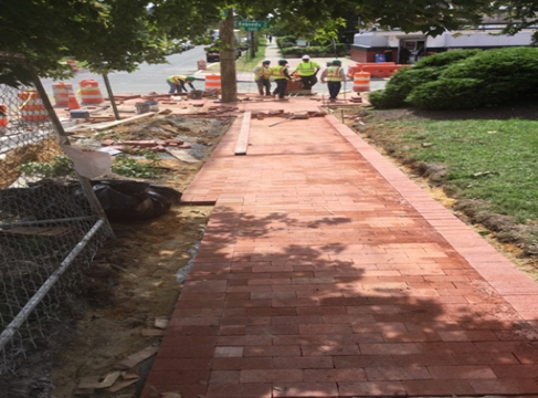 Furnish & Install Brick Sidewalks on PCC Base At BR-C1 Bump Out