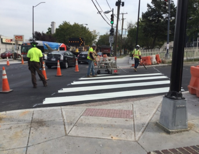 Pavement Marking at Missouri Ave and 2nd ST Intersection