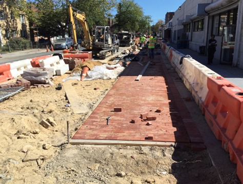 Install Brick Sidewalk On 4Inch PCC Base BR-C5 to BR-C7