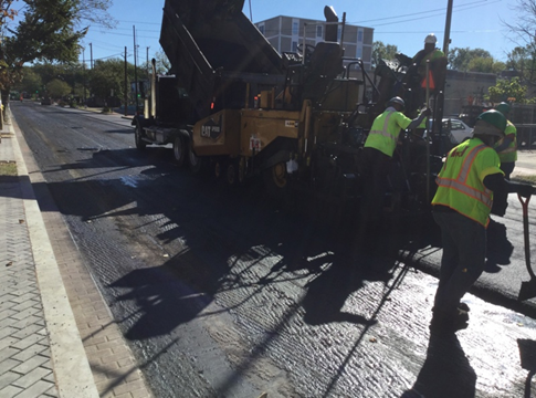 Asphalt Operation at Kennedy ST Bet. 1st ST And New Hampshire Ave
