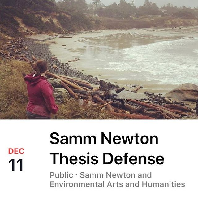 I'm defending this Tuesday! 3PM at Autzen House! Excited to be *almost* done.
