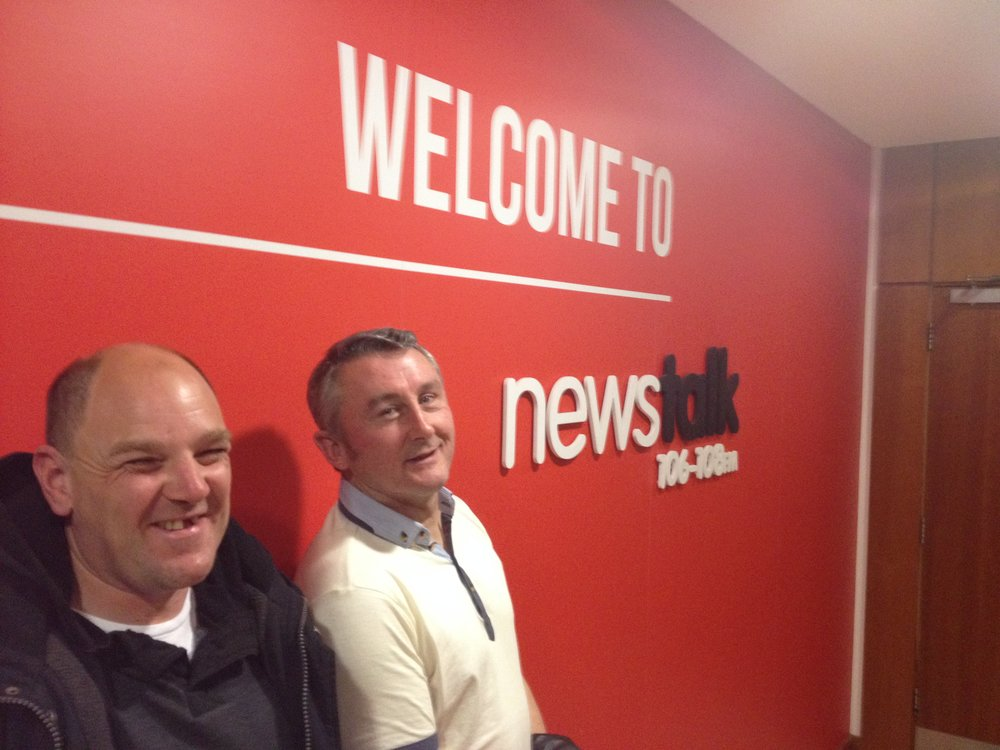 Robbie and Terry in studio for the George Hook show