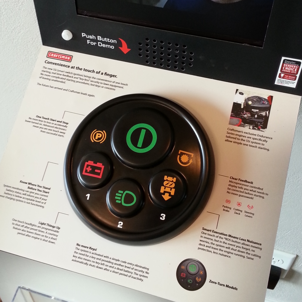 CRAFTSMAN SMART SWITCH INTERACTIVE DISPLAY