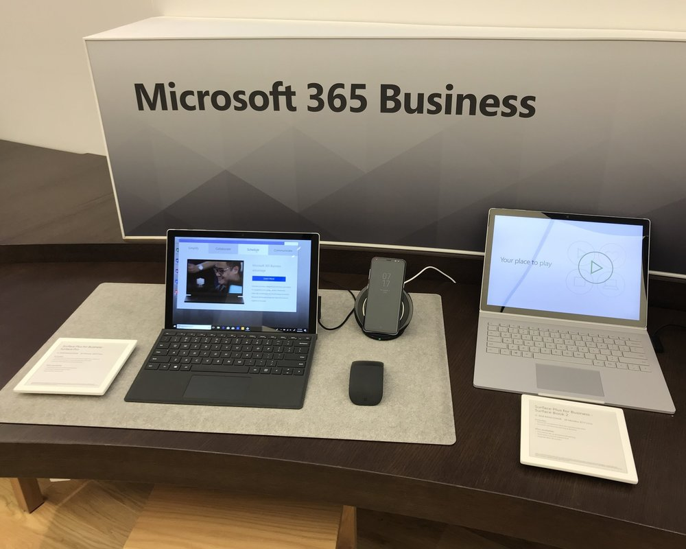 Microsoft and AXIS partnered to design and produce a multi-faceted retail solution showcasing features of the new Alcantara Signature Type Covers for the Surface Pro 4.