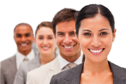 smiling_businesses_collegues_man_woman