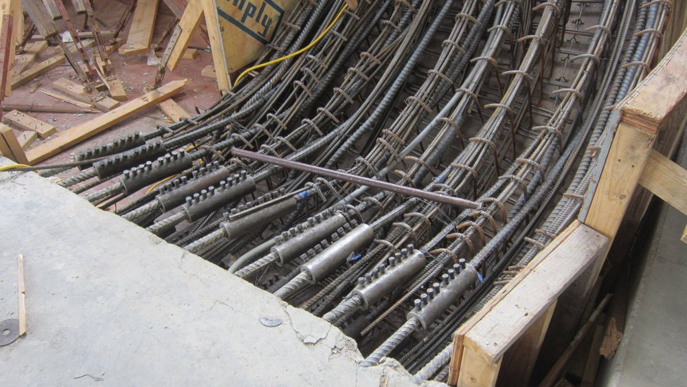 Rebar connection to existing concrete floor