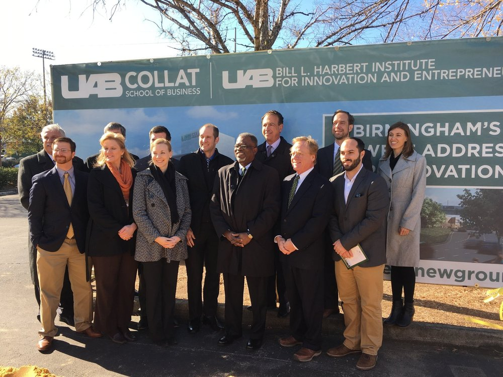 Williams Blackstock attends the UAB Collat School of Business Ground Breaking