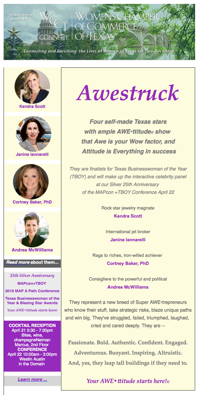 2016 Texas Business Woman of the Year Finalist