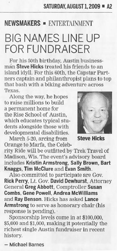 Big Names Line Up for Fundraiser