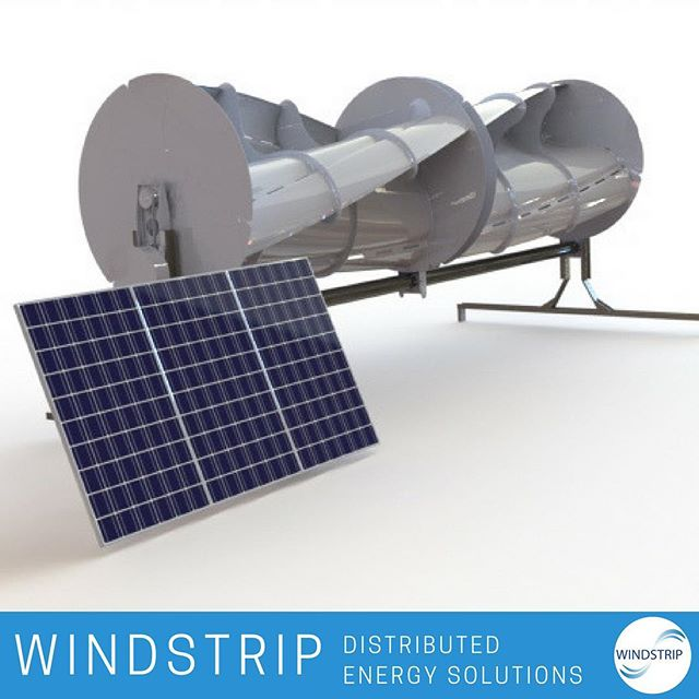 Our Hybrid Power System is your complete solution for renewable energy. By capturing the most output of both solar/wind at any given time and being able to mount a VAWT (Vertical Axis Wind Turbine) to existing telecom towers, we offer the reliability and flexibility needed to power a successful business.  #renewableenergy #powersystem