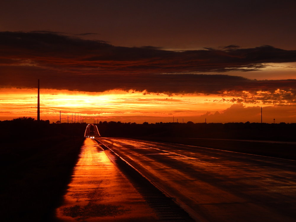 Sunset in Nebraska. Photo by Kyle Constable.