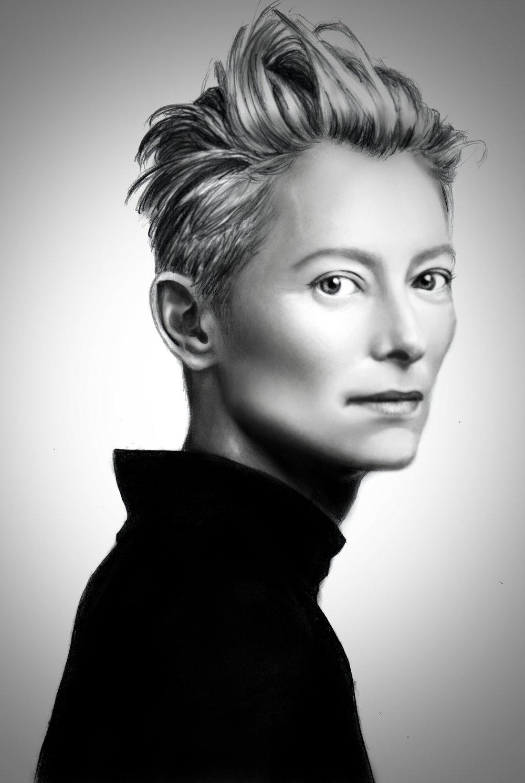 Tilda swinton portrait v2 jpg
