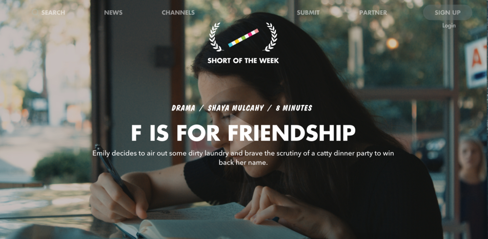 F is for Friendship | Online Premiere Short of the Week