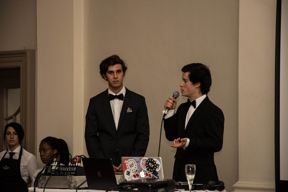 Sam and Alex presenting about Elpis at the EUNAS ball