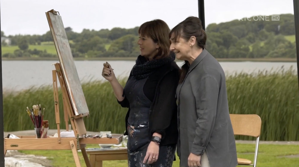 Me and Pauline McLynn on location