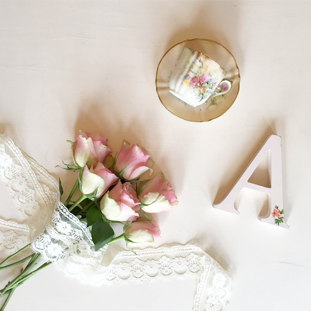 Vintage Amy Event Styling-Flatlay-Vintage Styling-Vintage China