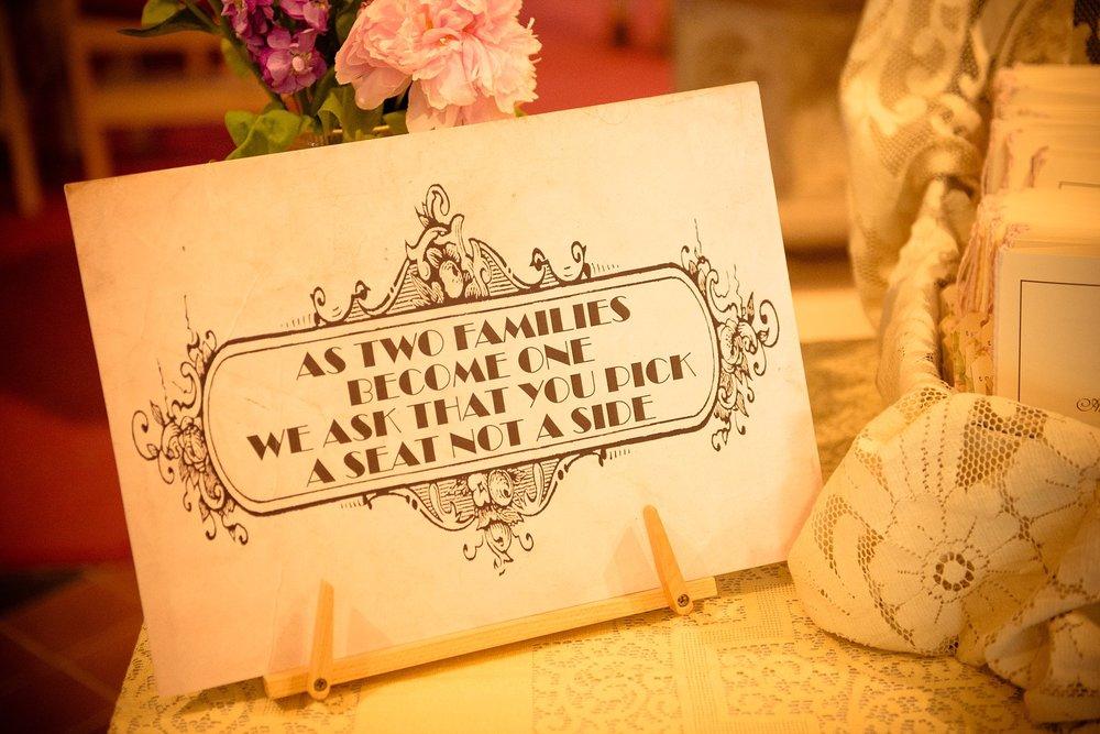 Vintage Amy Wedding Styling-My Vintage Wedding-Vintage DIY Wedding Sign