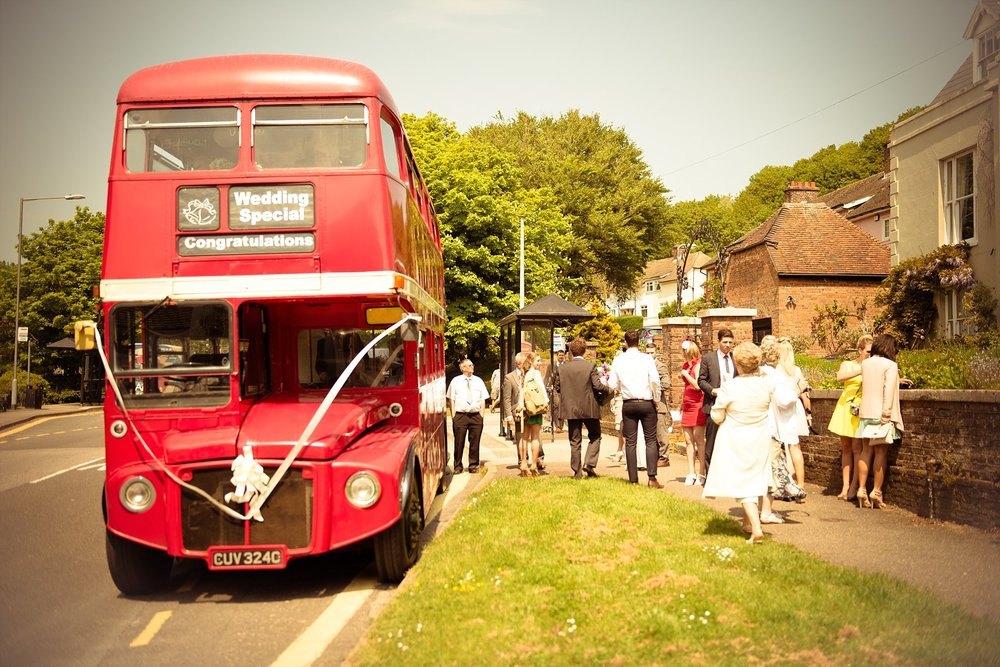 Vintage Amy Wedding Styling-My Vintage Wedding-Routemaster Bus Wedding Guests Travel