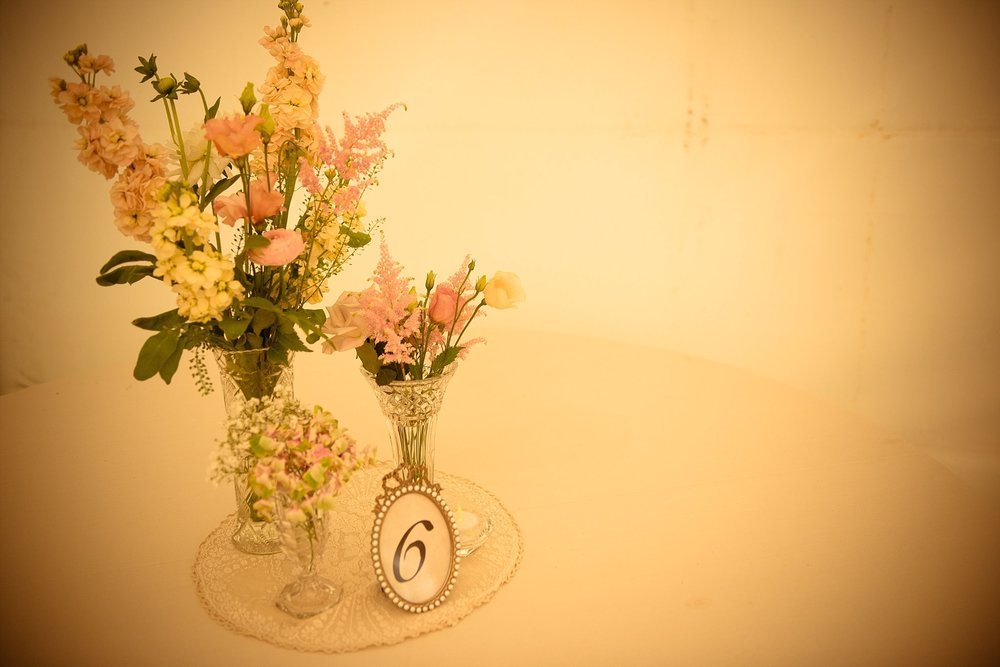 Vintage Amy Wedding Styling-My Vintage Wedding-Vintage Lace Doily and Cut Glass Vases