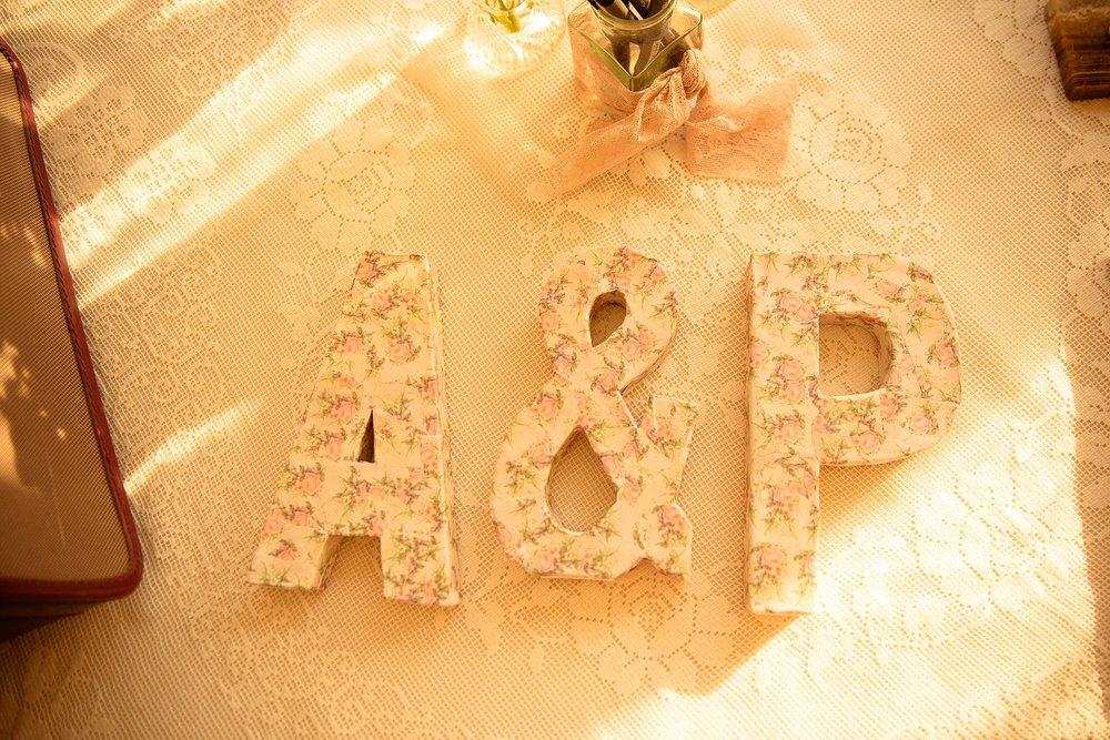 Vintage Amy Wedding Styling-My Vintage Wedding-Vintage Decoupage Letters
