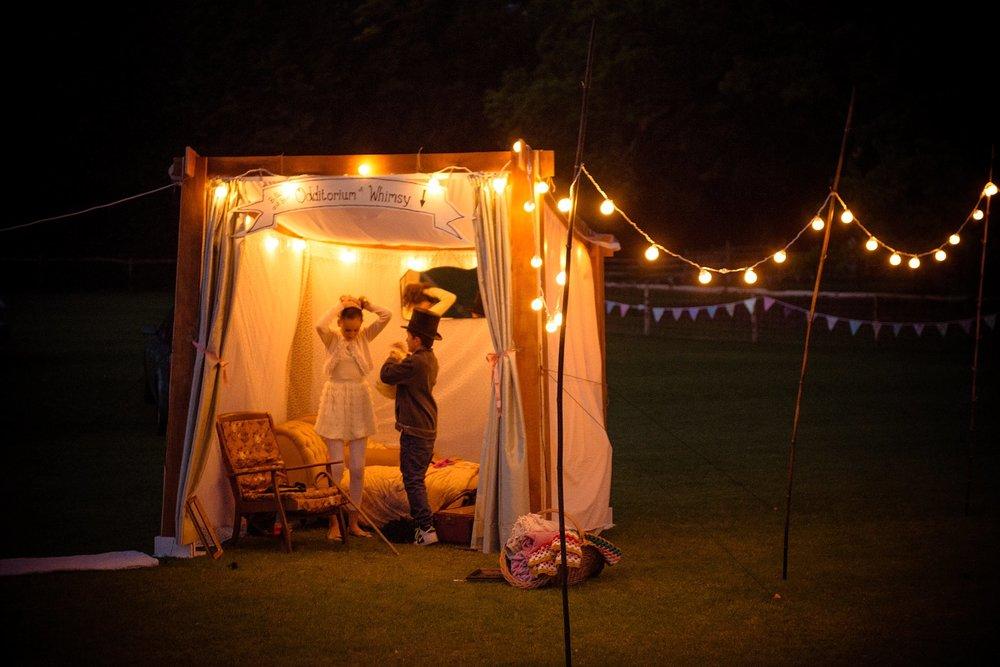 Vintage Amy Wedding Styling-My Vintage Wedding-Vintage Photo Booth-Festoon Lights