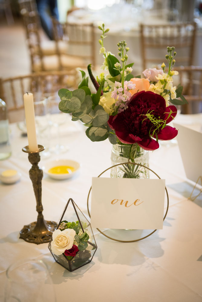 Vintage Amy Wedding Styling-Selina and Daves Romantic Wedding-Tunbridge Wells Kent-Modern Vintage Table Styling with Brass Terrariums
