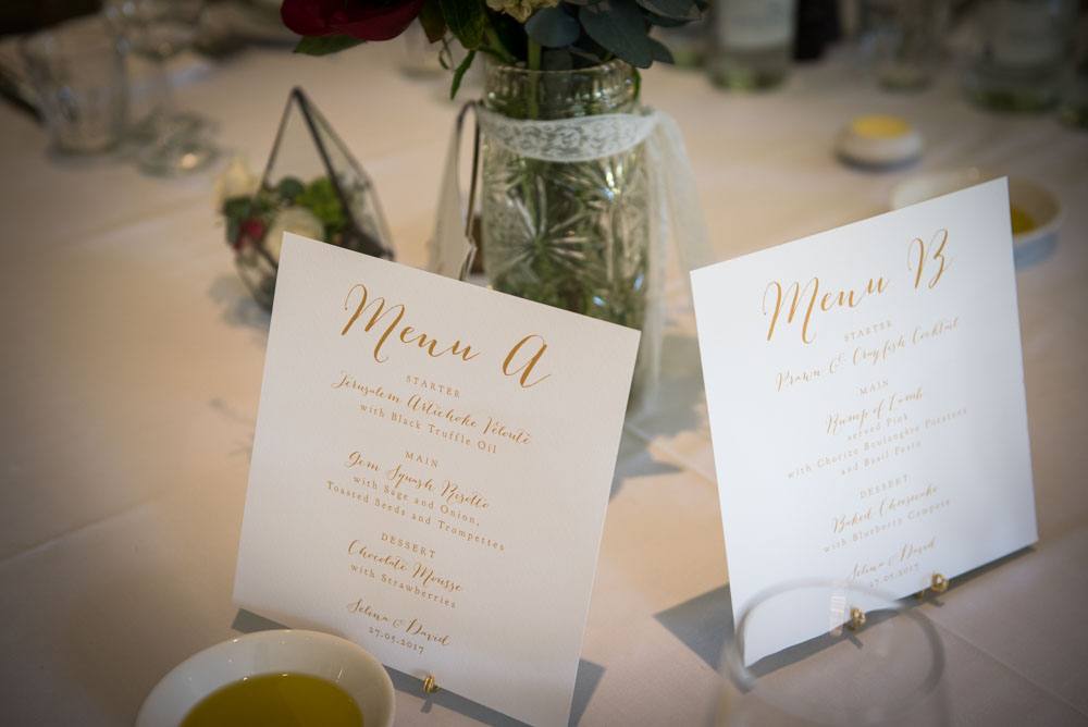 Vintage Amy Wedding Styling-Selina and Daves Romantic Wedding-Tunbridge Wells Kent-Calligraphy Menu-Modern Vintage Romantic Wedding
