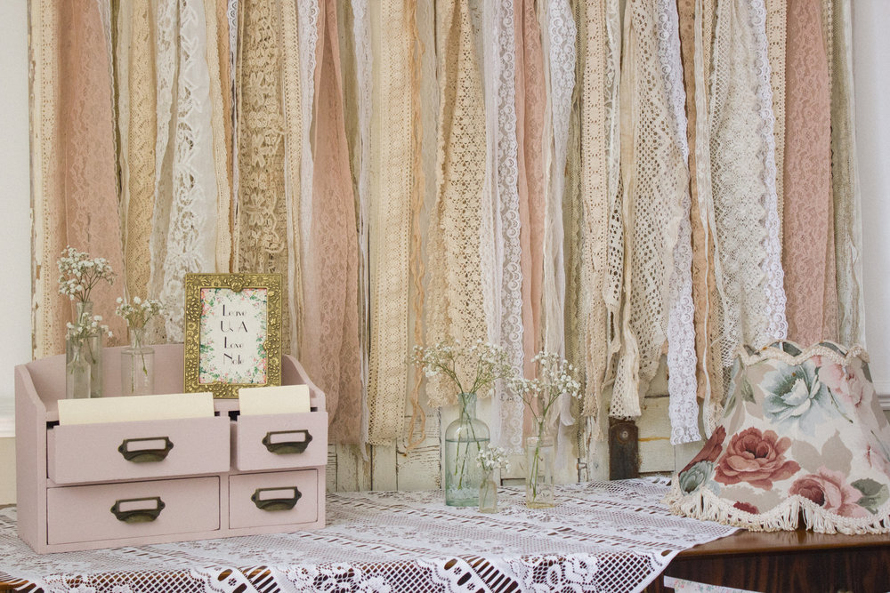 Vintage tassel lampshades are a fab prop to have at your vintage wedding. Hang them from trees, from a bar or a marquee, or simply place them around the venue.