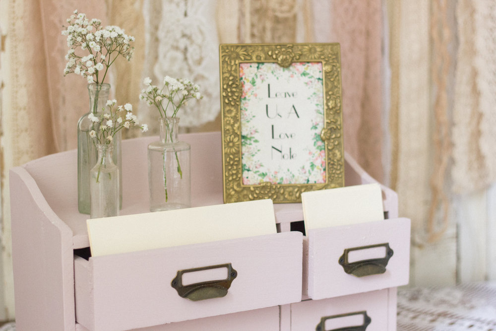 I love these little drawers that I use as a quirky version of a guest book. A talking-point for guests.