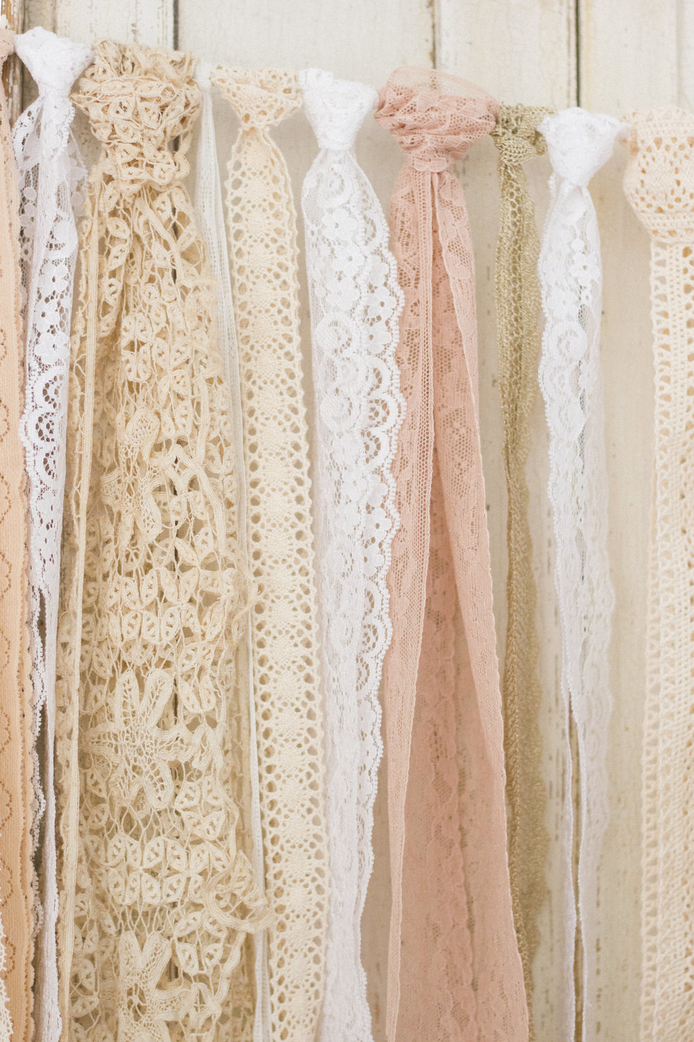 More detail of my pretty lace hanging.