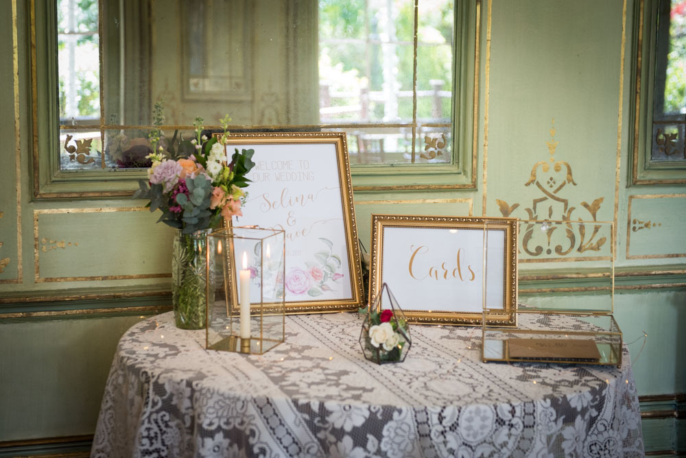 Vintage Amy Wedding Styling-Vintage Luxe Welcome Table-Selina and Daves Wedding Kent