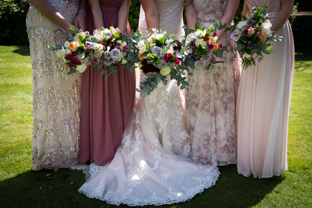 Vintage Amy Wedding Styling-Vintage Style Mismatched Bridesmaid Dresses-Vintage Wedding Kent